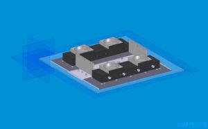 Plexiglas LED Deckenlampe CAD Modell