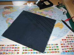 Plexiglasplatte schwarz mit Folie