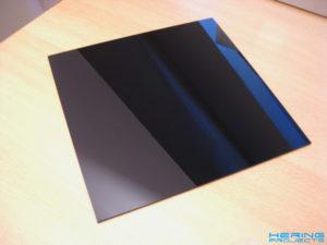 Plexiglasplatte schwarz ohne Folie