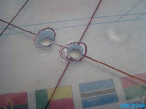 Plexiglas LED Deckenlampe bohren 2