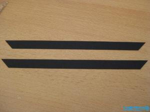 Schwarzer Tonkarton Streifen 45 Grad
