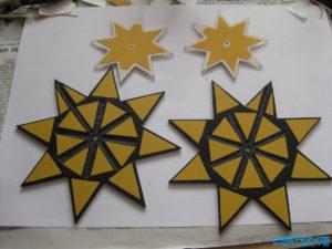 Sterne mit doppelseitigem Klebeband