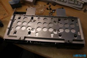 Aluminium Konstruktion auf LianLi Q25B Montageblech montiert