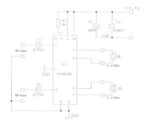 Mini Audio Verstärker Schaltplan