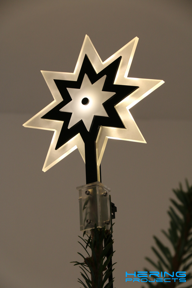 Plexiglas LED Weihnachtsstern V2