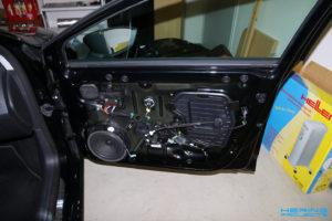 Seat Leon 5F Türen dämmen Beifahrerseite Ausgangszustand