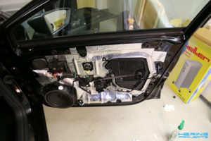 Seat Leon 5F Türen dämmen Beifahrertür fertig gedämmt
