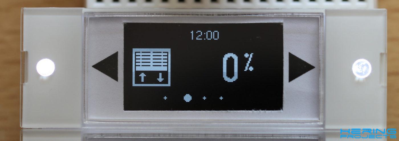 Displayanzeige Smart Home Wandtaster Rolladensteuerung