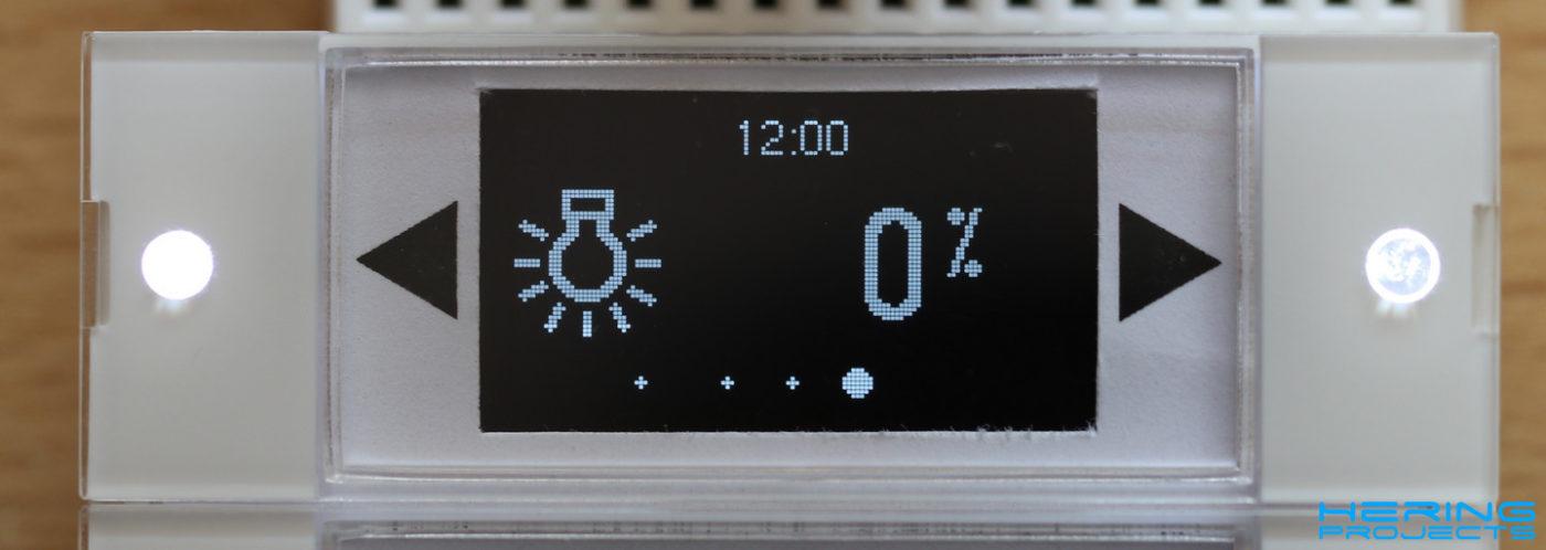 Displayanzeige Smart Home Wandtaster Beleuchtung Dimmen