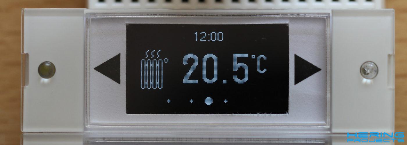 Displayanzeige Smart Home Wandtaster Heizungssteuerung
