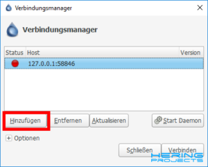 Deluge Verbindungsmanager Screenshot