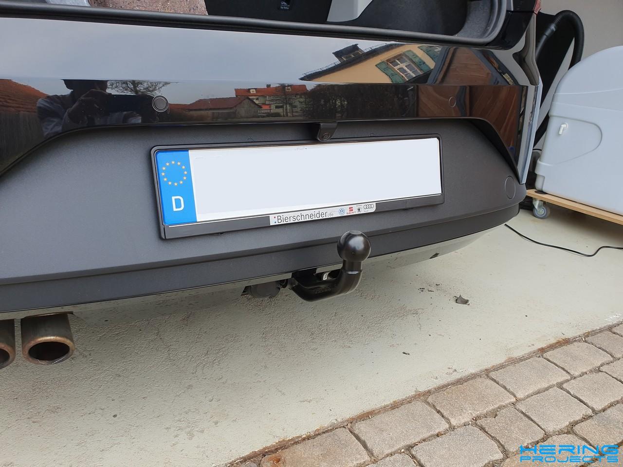Seat Leon 5F Anhängerkupplung nachgerüstet