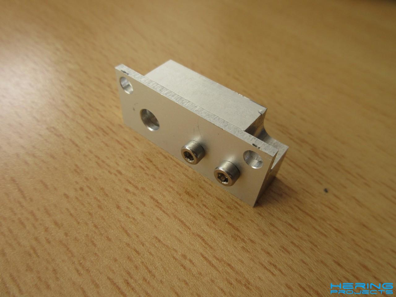 Ultimaker Messuhrhalterung zusammengebaut