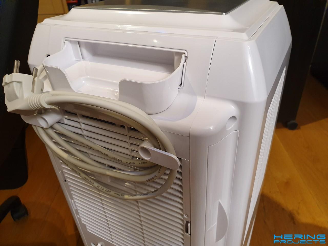 Klimagerät PAC 2000 E Schrauben entfernen Rückseite