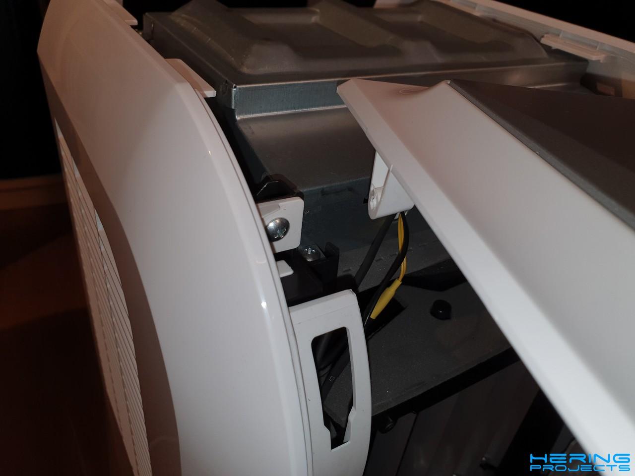 Klimagerät PAC 2000 E Schrauben entfernen
