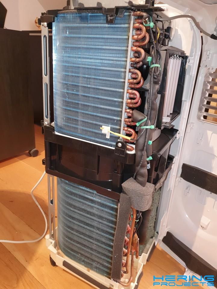 Klimagerät PAC 2000 E geöffnet