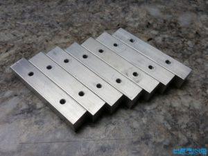 15x15mm Aluminiumvierkant mit Gewindebohrungen