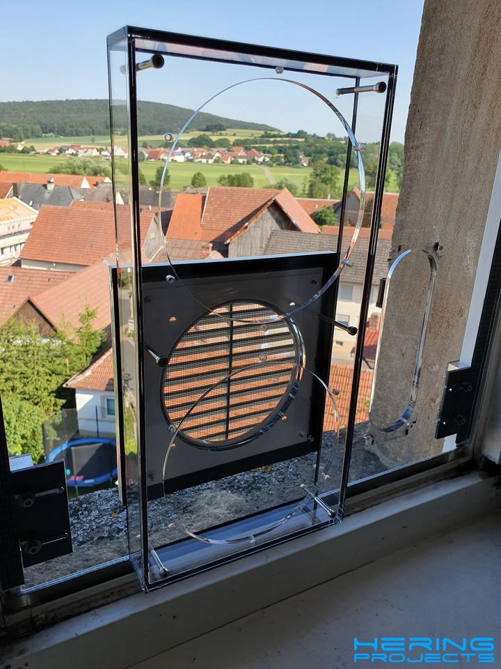 Klimaanlage Fensteradapter Adapter für zwei Schläuche