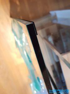 Klimaanlage Fensteradapter Plexiglasplatte mit Moosgummi beklebt