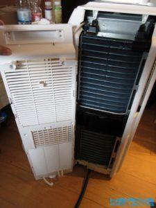 Klimagerät PAC 2000 E Rückseite demontiert
