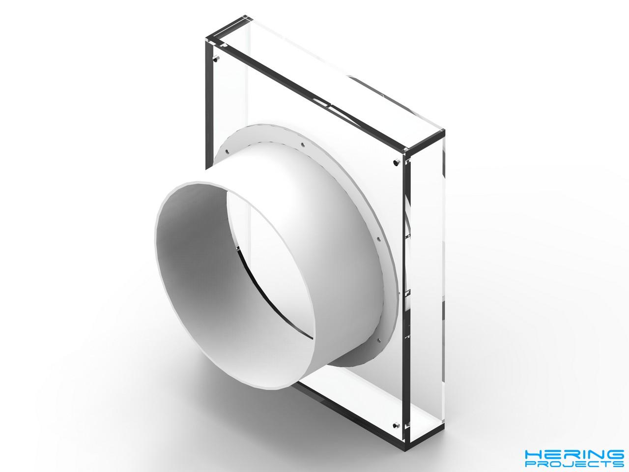 CAD Render Adapterbox für Klimaanlage
